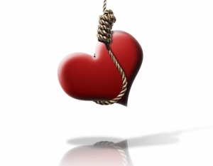 broken-heart hanging